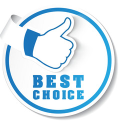 Best choice label vector