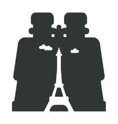 Looking through binoculars paris vector