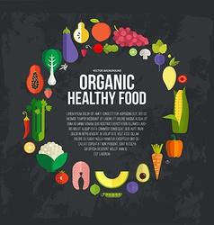 Organic food concept vector