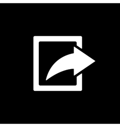 The share icon action symbol flat vector