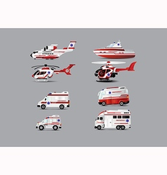 Ambulance set vector