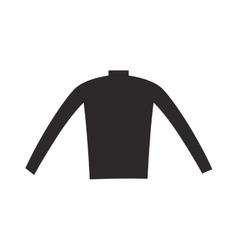 Female black blouse fashion clothing shirt design vector image