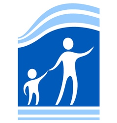 Child protect icon vector
