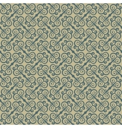 Ethnic seamless pattern with swirls Stylized vector image