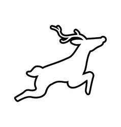 Reindeer icon animal design graphic vector