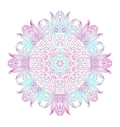 Abstract Hand-drawn Mandala-08 vector image