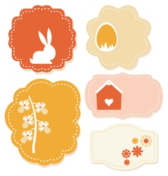 Beautiful easter colorful tags isolated on white vector