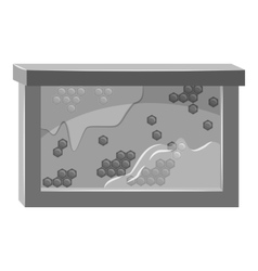 Bee honeycombs icon gray monochrome style vector