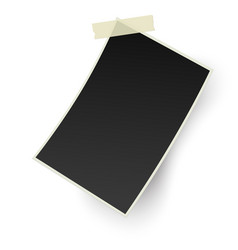 blank retro photo frame with straight edges vector image vector image