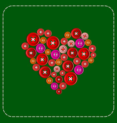 button-heart background picture red to green vector image vector image