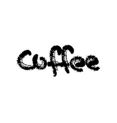 Coffee text calligraphic lettering vector
