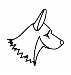 Collie dog icon outline style vector image