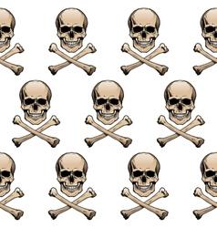 Colored skulls background vector image