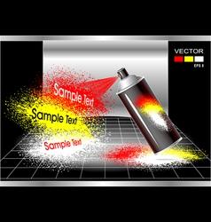 Concept aerosol spray painter vector