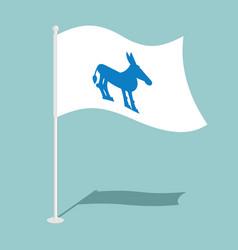 Democrat donkey flag national flag of vector