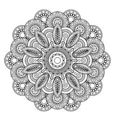 Doodle boho floral motif vector