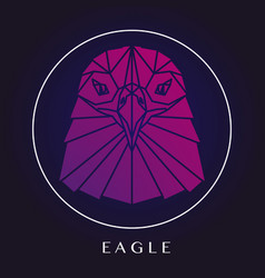 Eagle head triangular element logo vector