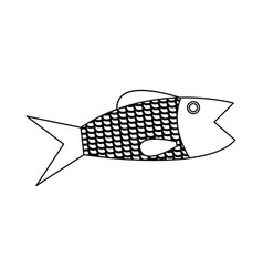 Fish fresh food healthy cartoon vector