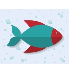 fish icon Sea animal cartoon graphic vector image vector image