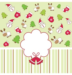 Funny christmas background vector