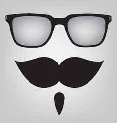 Funny mask sunglasses and mustache vector