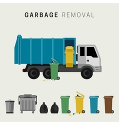 Garbage removal vector image