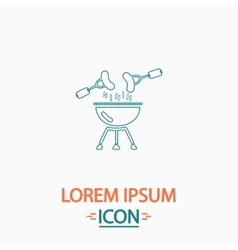 Grill computer symbol vector