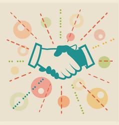 Handshake concept business vector