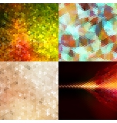 Hexagon Background Set EPS 10 vector image