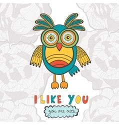 I like you you are so cute vector image vector image