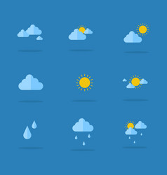Icon of weather set collection vector