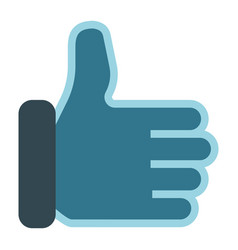 like flat icon social media and website vector image