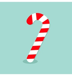 Merry christmas candy cane isolated flat design vector