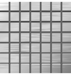 metal plate with squares vector image
