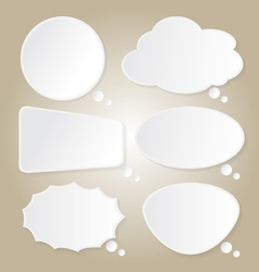 Paper bubbles speech idea on background vector