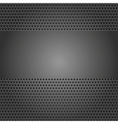 perforated metal background vector image vector image