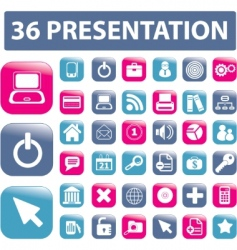 presentation buttons vector image vector image