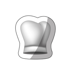Realistic silhouette sticker of chefs hat shading vector