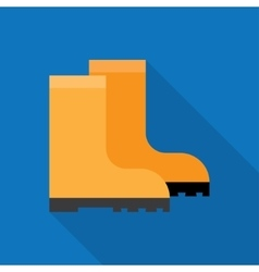 Rubber boots icon vector