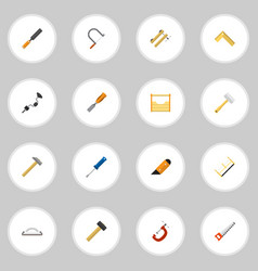 set of 16 editable equipment icons includes vector image