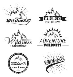set of wilderness and nature exploration vector image vector image
