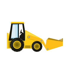 Skid steer loader vector