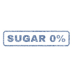 Sugar 0 percent textile stamp vector