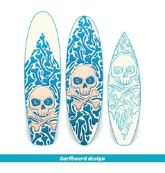 Surfboard Design One vector image vector image