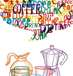 Trendy cute coffee concept vector image vector image