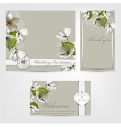 Wedding invitation Apple vector image vector image