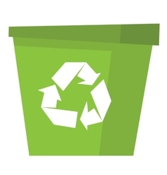 Recycle garbage can vector