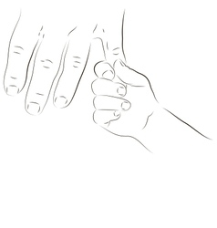 Parent and baby hand vector