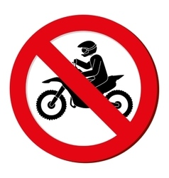 No motorcycle prohibition sign design vector
