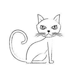 Cat icon image vector